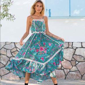 ISO - Spell & the Gypsy Babushka Midi Turquoise